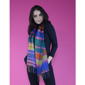 Twist Multi-Colour Check Long Scarf