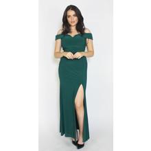 Morgan & Co Pine Off Shoulder Long Dress