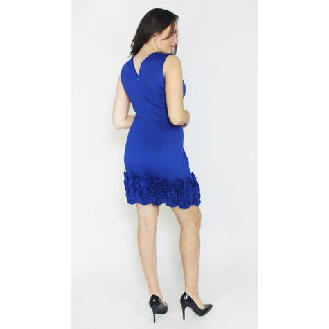 Donna Ricco Cobolt Fill Hem Dress