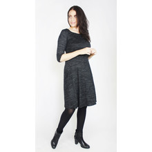 Twist Dark Grey Round Neck Dress