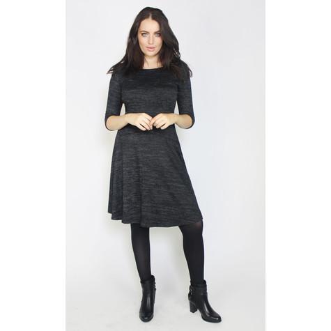 Twist Dark Grey Round Neck Dress