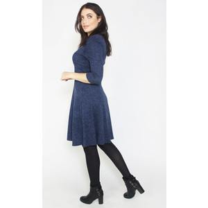 Twist Dark Navy Round Neck Dress