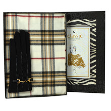 Something Special Black Gloves & Cream Scarf  Box Set