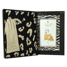 Something Special Cream Gloves & Cheetah Print Scarf Gift Set