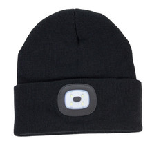 Something Special Black Rechargeable LED Touch Hat
