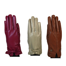 Something Special Beige Accessory Leather Gloves