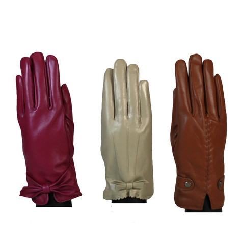 Something Special Pink Accessory Leather Gloves