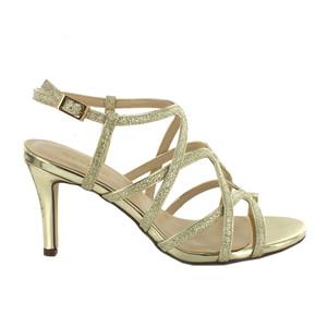 Pacomena Gold Strap Sandal Heels