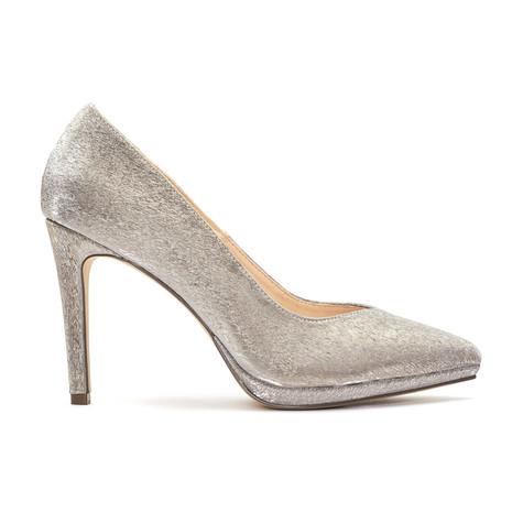 Pacomena Nude Metallic Heels
