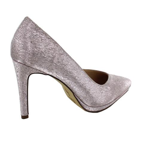 Pacomena Taupe Metallic Heels