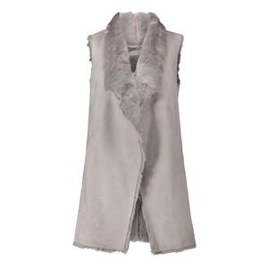 Betty Barclay Light Silver Faux Fur Body Warmer