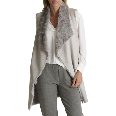 Betty Barclay Light Silver Faux Fur Body Warmer