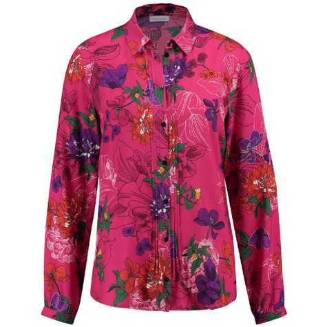Gerry Weber Hot Fushia Floral Print Collar Blouse
