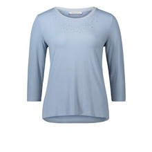 Betty Barclay Blue Casual Pearl Detail Top