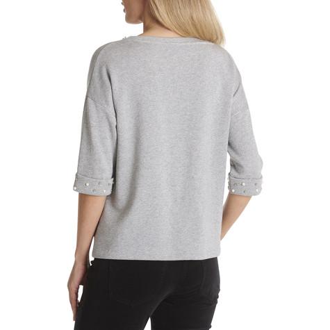 Betty Barclay Grey Melange Casual Sweatshirt With Beads