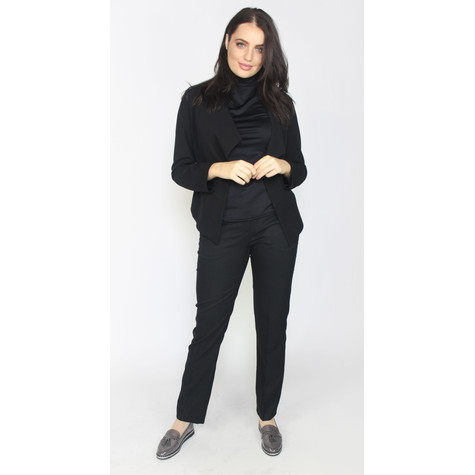 SophieB Black Drape Crop Jacket