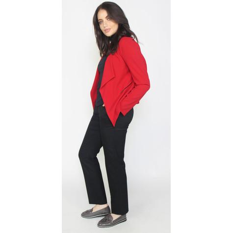Zapara Red Crop Drape Jacket