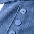 Olsen Button Detail Pullover Azure Blue