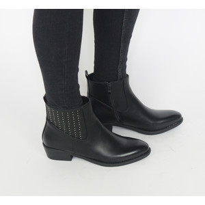 Pamela Scott Black Bella Cuban Heel Boots
