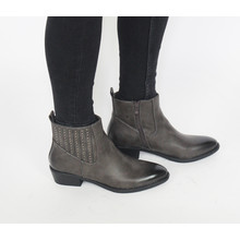 Pamela Scott Grey Bella Cuban Heel Boots