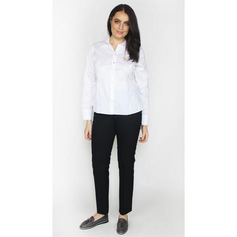 Twist White Button Up Shirt