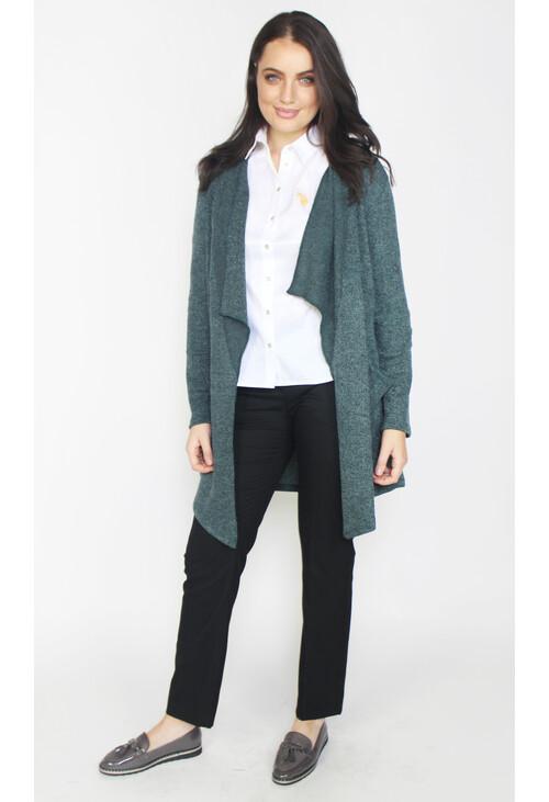 Sophie B Soft Dark Grey Long Open Knit