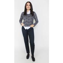 Twist Blue & Grey White Collar Soft Touch Knit