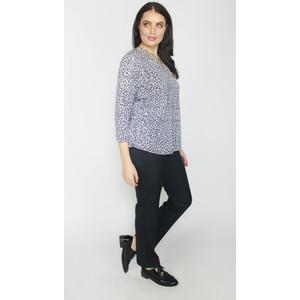 Twist Black & White Leopard Print V-Neck Top