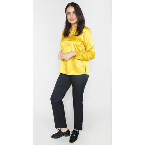 2104d1140223fa Twist Honey Satin Button Up Blouse | Pamela Scott