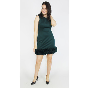 Donna Ricco Hunter Green Cupcake Dress
