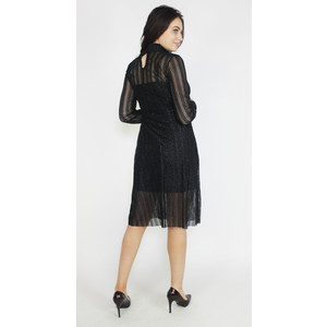 Pamela Scott Black & Silver Mesh Shimmer Dress