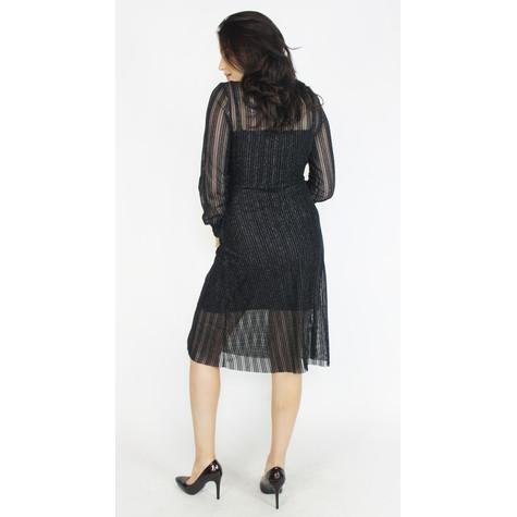 Pamela Scott Black & Silver Mesh Shimmer Dress