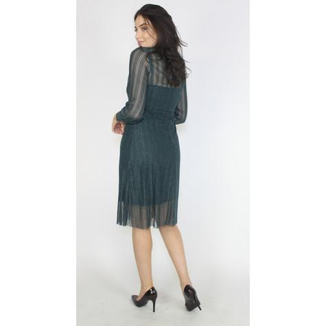 Pamela Scott Green & Silver Mesh Shimmer Dress