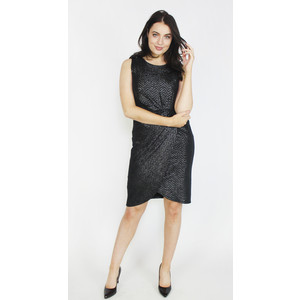 Donna Ricco Black & Metallic Pattern Dress