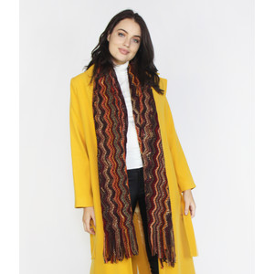 SophieB Spice Missoni Pattern Winter Scarf