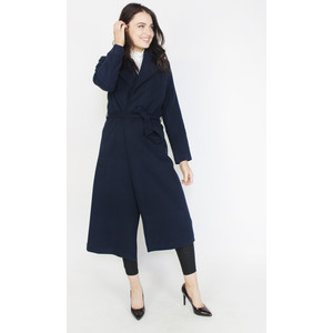 SophieB Navy Long Belted Winter Coat