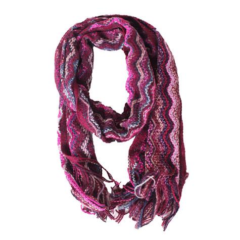 SophieB Pink Missoni Pattern Winter Scarf