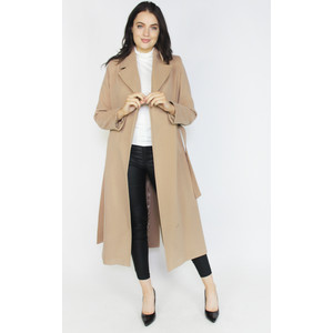 SophieB Camel Long Belted Winter Coat