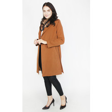 SophieB Cognac Belted Long Winter Coat