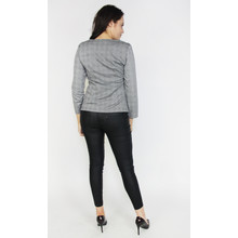 Zapara Black & Grey Check Zip Jacket