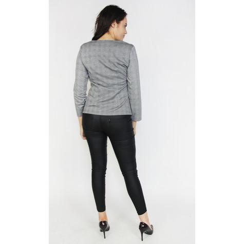 Zapara Black & Grey Check Zip Jacket