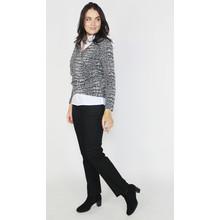 SophieB 2 in 1 Black & Grey Wrap Top
