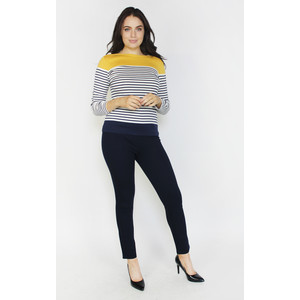 Twist Navy & Honey Strip Top