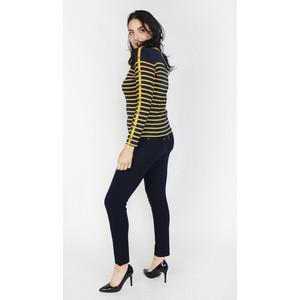 Twist Navy & Honey Strip Top