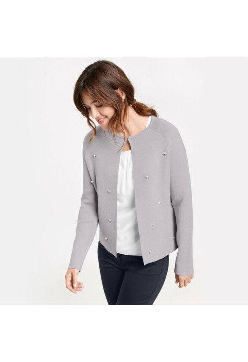 Gerry Weber Grey Cardigan With Decorative Beads