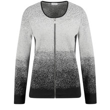 Gerry Weber Degradée Jacket with Lurex Gray Melange