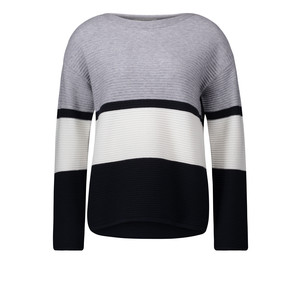 Betty Barclay Grey Light Ribbed Strip Knit