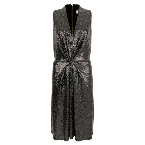 Closet Silver Sequin Jersey A-Line Dress