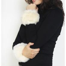 Fashion Kingdom Off White Faux Fur Wrist Warmer