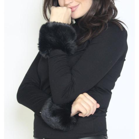 Pamela Scott Noir Faux Fur Wrist Warmer